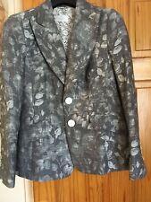 Lightweight ladies grey brocade jacket from 'Elegance' size 14.