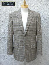 ISAIA Napoli Brown Blue Check Houndstooth Sports Jacket (40 US / 50 EU) Italy