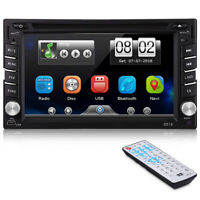 6.2'' 2-DIN LCD Touch Screen Bluetooth Car Stereo DVD CD MP5 Player AM FM Radio