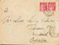 Spain. War Civil Campo de Refugiados. Sobre . 1940. 1´25 fr rosa, dos sell