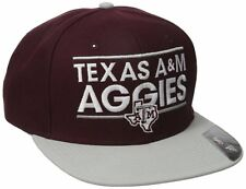 "TEXAS A&M AGGIES ADIDAS NCAA ""DASSLER"" FLAT-BILLED SNAPBACK OSFM HAT CAP NEW"