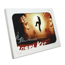 More details for ralph macchio signed cobra kai poster. in gift box