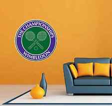 "Wimbledon Tennis Racquet Ball Room Wall Garage Decor Sticker Decal 22""X22"""