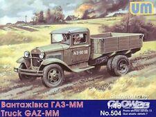 UM - GAZ-MM Camión LKW Soviético - 1:48 modelo equipo de construcción Unimodels