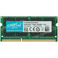 Crucial 16GB PC3L-12800S DDR3-1600MHZ 1.35V 204Pin SO-DIMM Laptop Memory Ram
