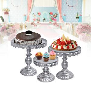 3x Classical Crystal Cake Stand Metal Cupcake Holder Display Home Decora weddinG