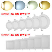 LED Recessed Ceiling Panel Down Light Bulb Cool/Warm White Slim Lamp Fixture