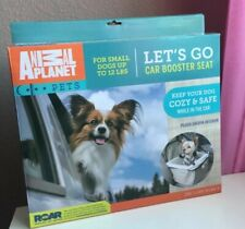 Animal Planet Dog Car Booster Seat, For Small Dogs  Up To 12lbs, Tan Color