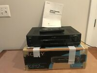 Vintage Sony SLV-X812PS 4 head VCR Auto Tracking/Head Cleaning, + Box, Remote!!