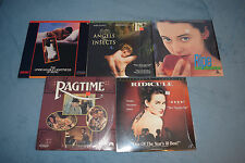 Lot of 5 Drama Romance LaserDiscs Ripe Ragtime Ridicule Angels & Insects