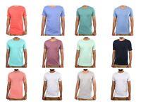 Mens 100%Cotton Plain Short Sleeve Basic Plain T-Shirt Tee Top Casual Round Neck