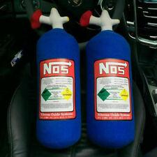 2PCS NOS Nitrous Oxide Bottle Tank Shape Car Home Pillow Plush Turbo JDM Toy