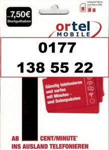 Ortel Mobile Prepaid SIM Karte + Rufnummer