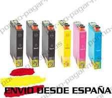 6 CARTUCHOS DE TINTA COMPATIBLE NON OEM PARA EPSON STYLUS SX230 SX430W T1285