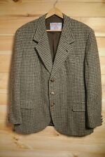 "Vtg Italian Harris Tweed Jacket Blazer Sportscoat 46"" Houndstooth"