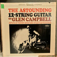 "GLEN CAMPBELL - Astounding 12-String Guitar(Orig Shrink) 12"" Vinyl Record LP- EX"