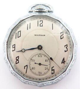1919 WALTHAM 12S 17J POCKET WATCH with IWC Co PENTADECAGON CASE BODY.