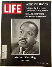 LIFE MAGAZINE APRIL 1968~MARTIN LUTHER KING MURDER IN MEMPHIS VIETNAM POLITICS