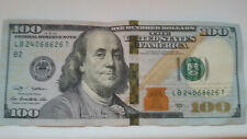 100 US Dollar Note Bill Rare Rarity Misprint Collectible Collector's Piece Item