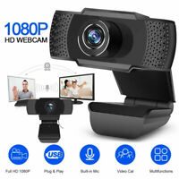 HD Webcam USB Computer Web Camera For PC Laptop Desktop Video Cam W Microphone f