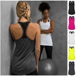Womens Sports Gym Racer Back Running Vest Fitness Jogging Yoga Singlet Tank Top