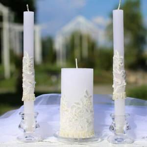 Unity Wedding Candle Set, White Wedding Ceremony Candles