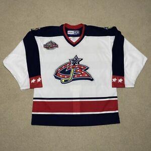 Columbus Blue Jackets Inaugural Season CCM Pro Hockey Jersey White 52 2000