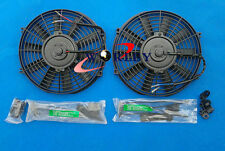 "2 × 14"" 14 inch Universal Electric Radiator RACING COOLING Fan + mounting kit"