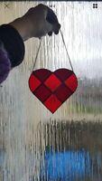 Stained Glass Heart Suncatcher