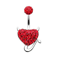 Devil's Heart Multi-Sprinkle Dot Belly Button Ring Many Colors