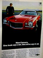 1970 Chevrolet Camaro Sports Coupe RS Original Print Ad  -8.5 x 10.5""