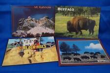 Vintage Lot of 3 Unused South Dakota Souvenir Postcards