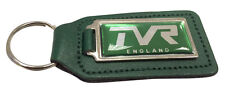 TVR England Green 45mm Logo Quality Green Leather Keyring
