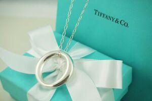 "Tiffany & Co. Extra Large Sevillana Pendant Oval Link Necklace 18"" (#F313)"