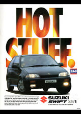 "1995 SUZUKI SWIFT GTI 3 DOOR A2 CANVAS PRINT POSTER 23.4""x16.5"""
