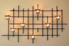 Wandteelichthalter 7XXL Wandkerzenhalter Metall 83cm Teelichthalter Kerzenhalter
