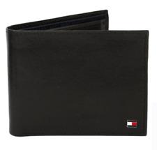 Tommy Hilfiger Men's Leather Wallet Passcase Billfold Rfid Red Navy 31TL220055