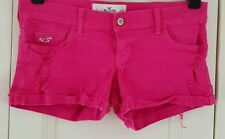 Hollister Cotton Patternless Plus Size Shorts for Women