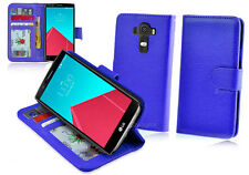 NEW Blue Leather ID Wallet Case Cover for LG G4 4G