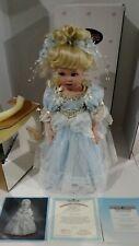 "Vintage Cinderella Ashton Drake's Porcelain Doll By Brigitte Deval, 17 "" Nib"
