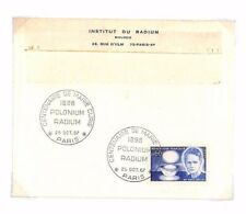 AP404 1964 France INSTITUT RADIUM Official Stationery Marie Curie Commemorative