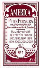 2003-04 Topps C55 Minis American Red #1 Peter Forsberg