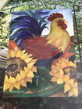 """Hummingbird Haven *Fall Rooster* Small House Garden Flag 12.5 00006000 """" x 18"""""""