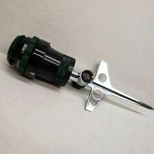 Orbit 6 gear stake in lawn sprinkler,  garden hose end.