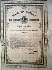 Mexico Mexican 1854 Spain Convencion Espanola 2500 Pesos Aguila Spanish Bond