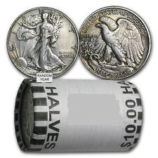 90% Silver Walking Liberty Half Dollars - $10 Face Value Roll-Average Circulated