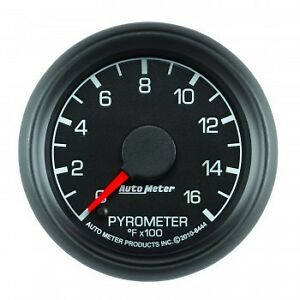 AutoMeter Gauge, 2-1/16 Ford Factory Match Pyrometer 0-1600 Degrees F.   -8444