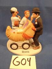 G04 Vintage Norman Rockwell Danbury Mint Porcelain Figurines Baby Sitter