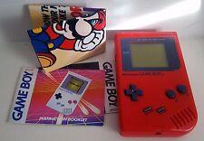 Original Nintendo Game Boy Play It Loud Handheld Video Game System (RED) Bonus