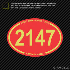 United States Marine Corps 2147 MOS LAV Mechanic Sticker Decal Vinyl usmc
